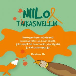 Lapsille ja lapsiperheille suunnattu musiikkiteatteriesitys Alavuden Sapsalammilla Siikinniemen rantalavalla heinä-elokuussa 2021.